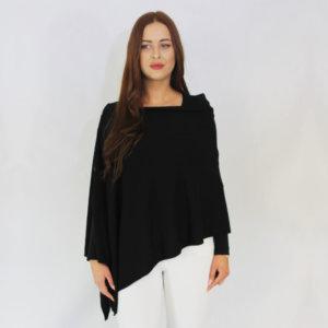 black buttoned cashmere