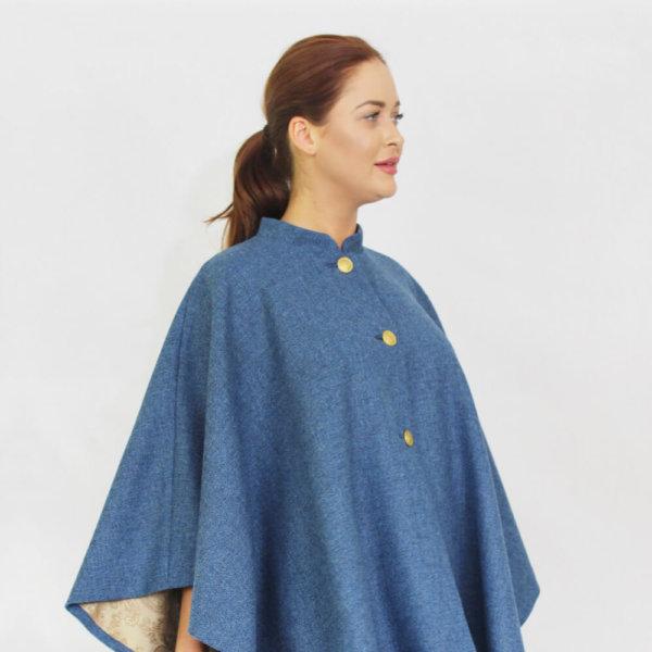 Chelsea cape blue wrap