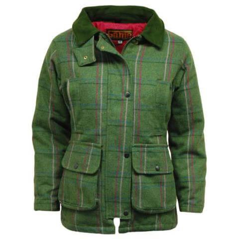 Fakenham tweed shooting jacket moss front