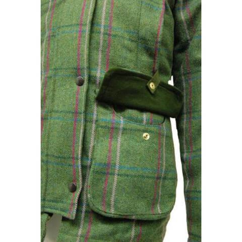 Fakenham tweed shooting jacket moss pocket