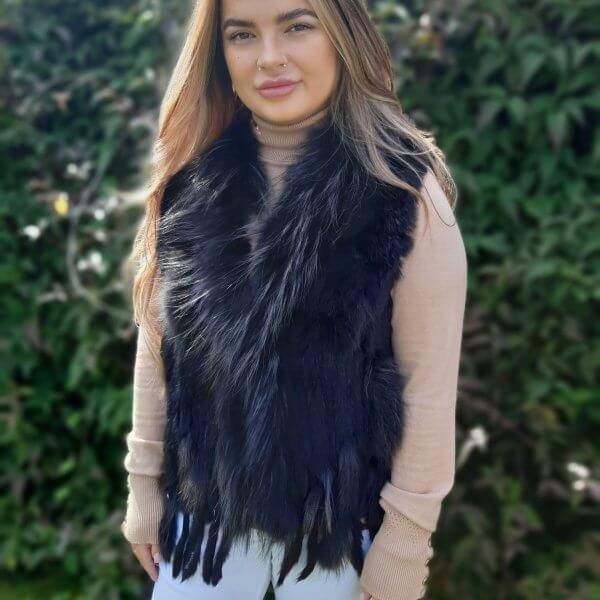 Fur Gilets. Wraps and Ponchos